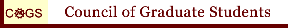 Council of Graduate Students Header, Link to Home Page